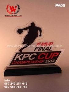 Plakat Akrilik Basket MVP KPC Cup desain plakat