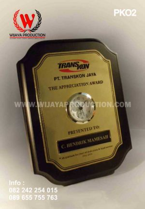 Plakat Kayu PT Transkon Jaya
