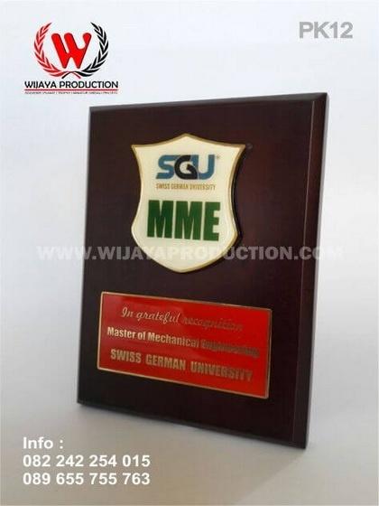 Plakat Kayu Penghargaan SGU MME