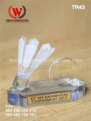 Plakat Piala Turnamen Badminton