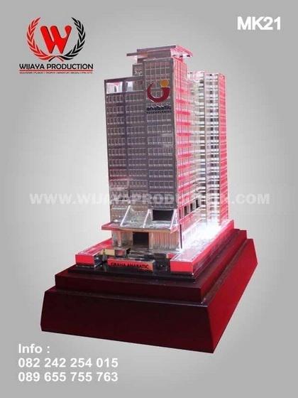 miniatur gedung pilihan terbaik souvenir perusahaan