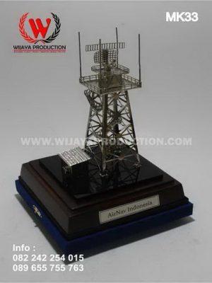 Souvenir Miniatur Tower Radar Airnav Indonesia
