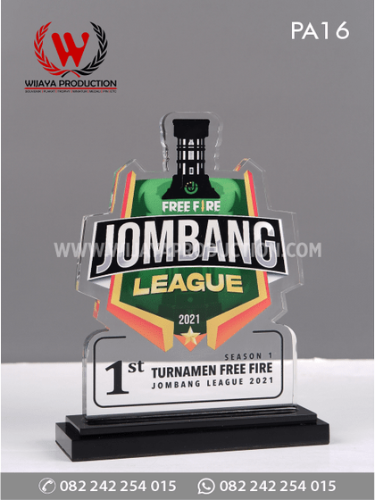 Plakat Akrilik Turnamen Free Fire Jombang League 2021